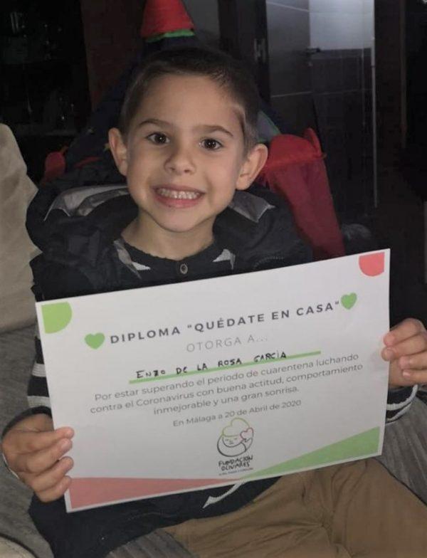 Enzo-diploma Fundacion Olivares